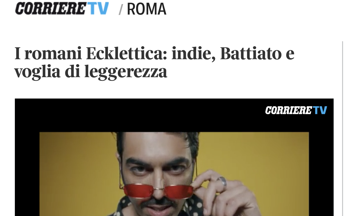 Ecklettica Corriere.it